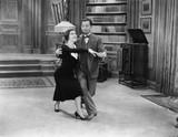 Happy couple dancing  - 104445675