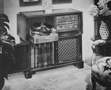 Philco Radio phonograph with AM and FM radio and turntable, 1951  - 104446497