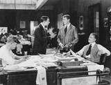 Four men at an office  - 104449066