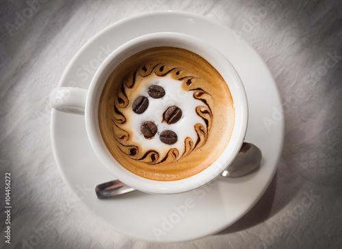 Foto op Canvas Chocolade cup of espresso coffee