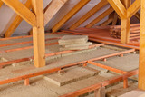 Work site of installing thermal insulation - 104459241