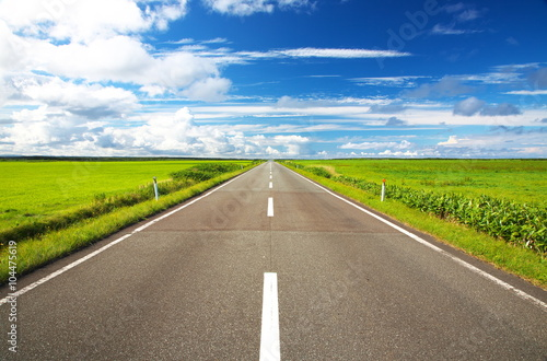 Poster 直線道路