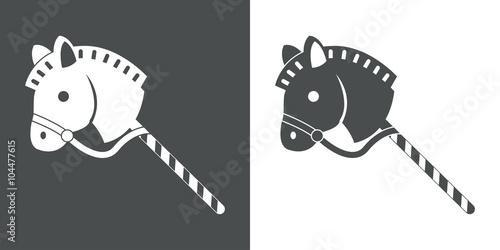 Zdjęcia na płótnie, fototapety, obrazy : Icono plano caballo de madera #1