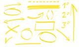 vari elementi grafici za riunione di ufficio con frecce numeri linee e sottolineature