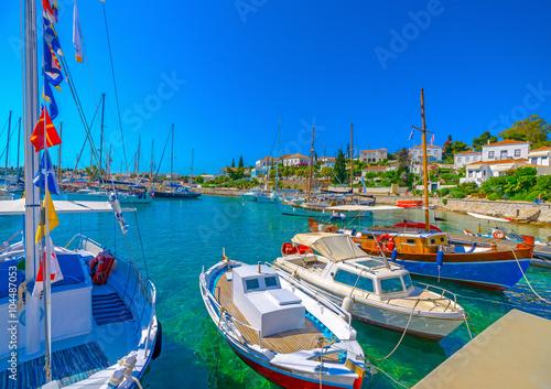 Aluminium in Spetses island in Greece