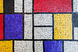 Square stone tiling mosaic, colorful background
