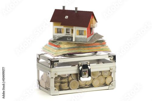 eigenheim finanzierung stock photo and royalty free. Black Bedroom Furniture Sets. Home Design Ideas