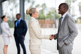 business people handshaking in office