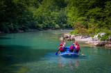 Fototapety Rafting in Montenegro, river Tara