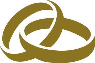 Icon of golden wedding rings