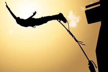 fototapeta odważny skok na bungee