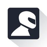 Fototapety racing helmet icon