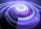 Abstract orb. Fractal digital artwork, illustration