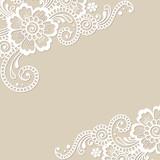 Flower vector ornament corner - 104571875