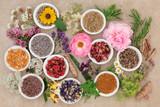 Fototapety Healing Flowers and Herbs