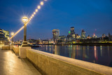 London Skyline from River Thames - 104579204