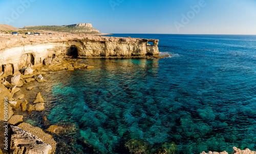Foto op Plexiglas Cyprus Sea caves panorama