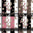 Seamless floral pattern retro patchwork background