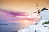 Beautiful and famous sunset on Santorini island, Greece - 104622811