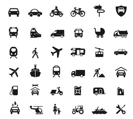 Symbole Verkehrsmittel