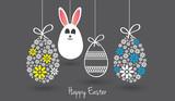 Fototapety Wielkanoc kartka z życzeniami, piasanki