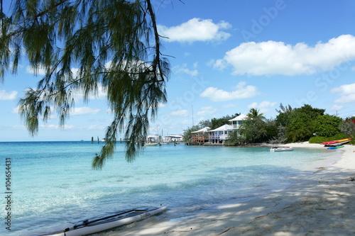 wunderbarer Strand, Exumas, bahamas плакат