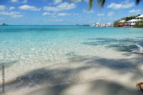 Poster wunderbarer Strand, Exumas, bahamas