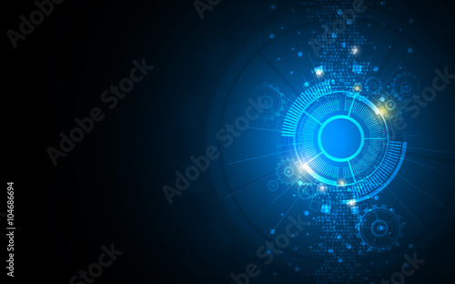 Sticker abstract background technology innovation concept