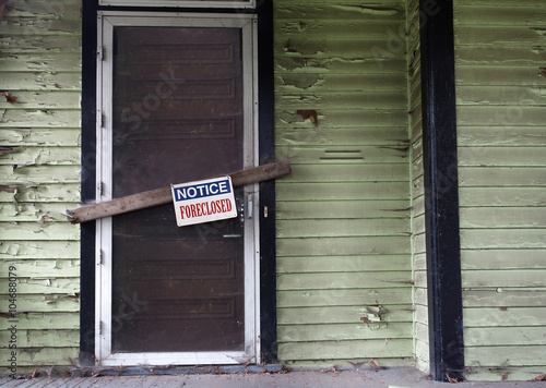 Poster Foreclosed house