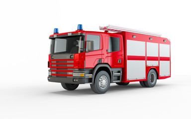 Red Firetruck isolated on a white background