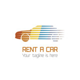 Vector car rentals label. Vector logo design template. Concept for automobile repair service, spare parts store