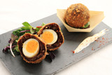 scotch egg plated starter appetizer