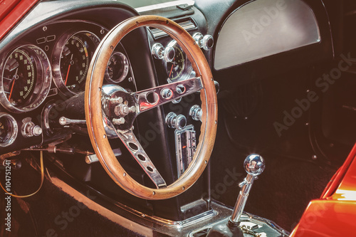 fototapeta na ścianę Dashboard of a classic car