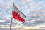 Polish flag in the sky