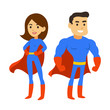 Superhero man and woman - 104779265