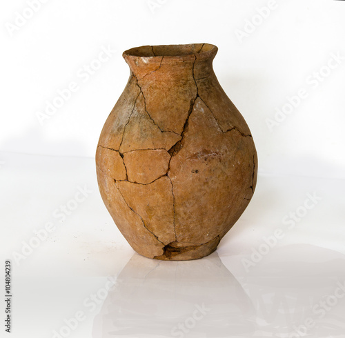 destroyed ancient pottery
