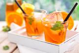 Lemonade with oranges. - Fine Art prints