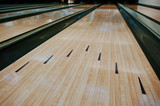 Fototapety Bowling wooden floor with lane