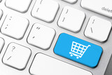 Online shopping cart icon for e-commerce concept - 104818472