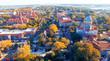 Saint Augustine, Florida. Aerial view at dusk