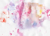 Watercolor background for your design. Painting on paper.