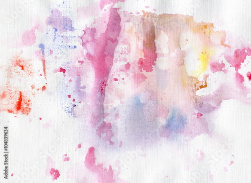 Watercolor background for your design. Painting on paper.  - 104839634