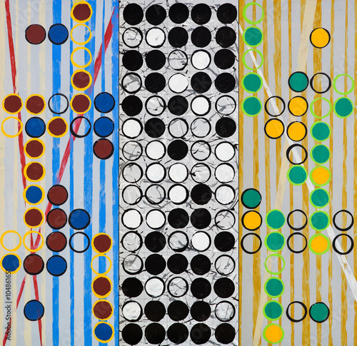 A triptych of 3 contemporary grid paintings - 104861651