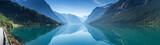 Fototapety Lovatnet lake, Norway, Panoramic view