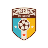 Fototapety football crests and logo emblem