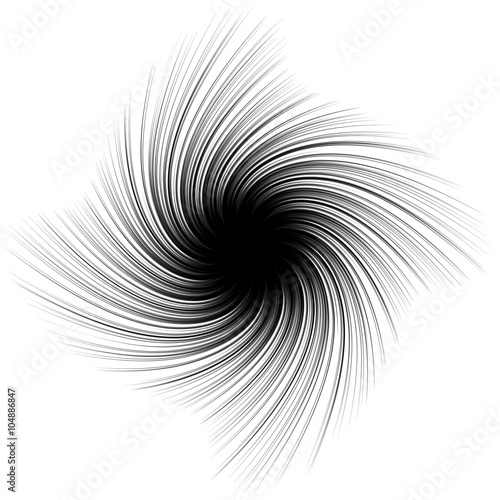Abstract spiky shape with rotating distortion effect - 104886847