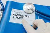 Blue folder with Alzheimer