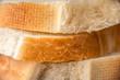 Cut slices of white bread