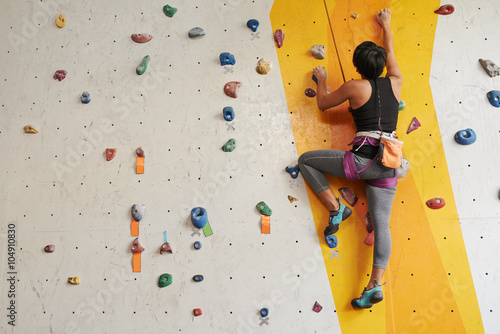 Climbing in gym