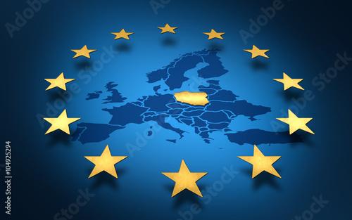 Fototapeta pologne, europe, union européenne, euro